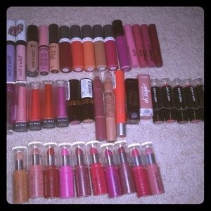 42 Lot/bundle drugstore lipsticks and lipglosses